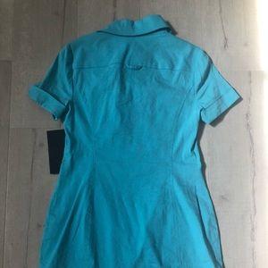 bebe Dresses - Beautiful Light Blue Safari Dress
